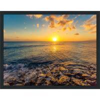 """""""Seaside Escape"""" Framed Plexiglass Wall Art"""
