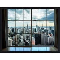 """ NewYork Window"" Framed Plexiglass Wall Art"