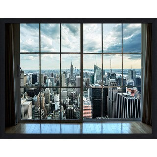 """ NewYork Window"" Framed Plexiglass Wall Art"