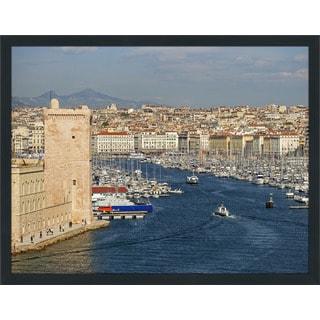 """""""Vieux Port, Marseille, France"""" Framed Plexiglass Wall Art"""