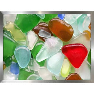 """Sea Glass 1"" Framed Plexiglass Wall Art"