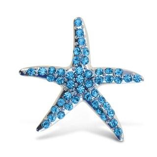 Puzzled Inc. Crystal-embellished Sparkling Starfish Refrigerator Magnet