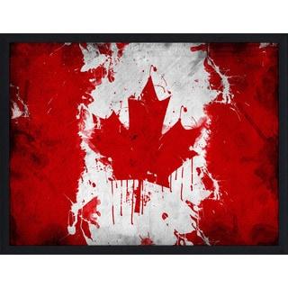 """""""Canada Flag"""" Framed Plexiglass Wall Art"""