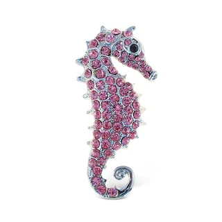 Puzzled Metal Sea Horse Sparkling Refrigerator Magnets