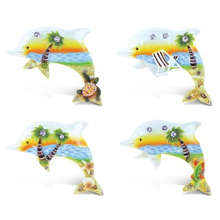 Puzzled Inc. Sunset Dolphin Refrigerator Magnets (Set of 4)