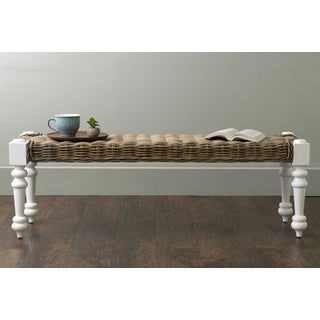 East At Main's Baldwin White Rattan Bench