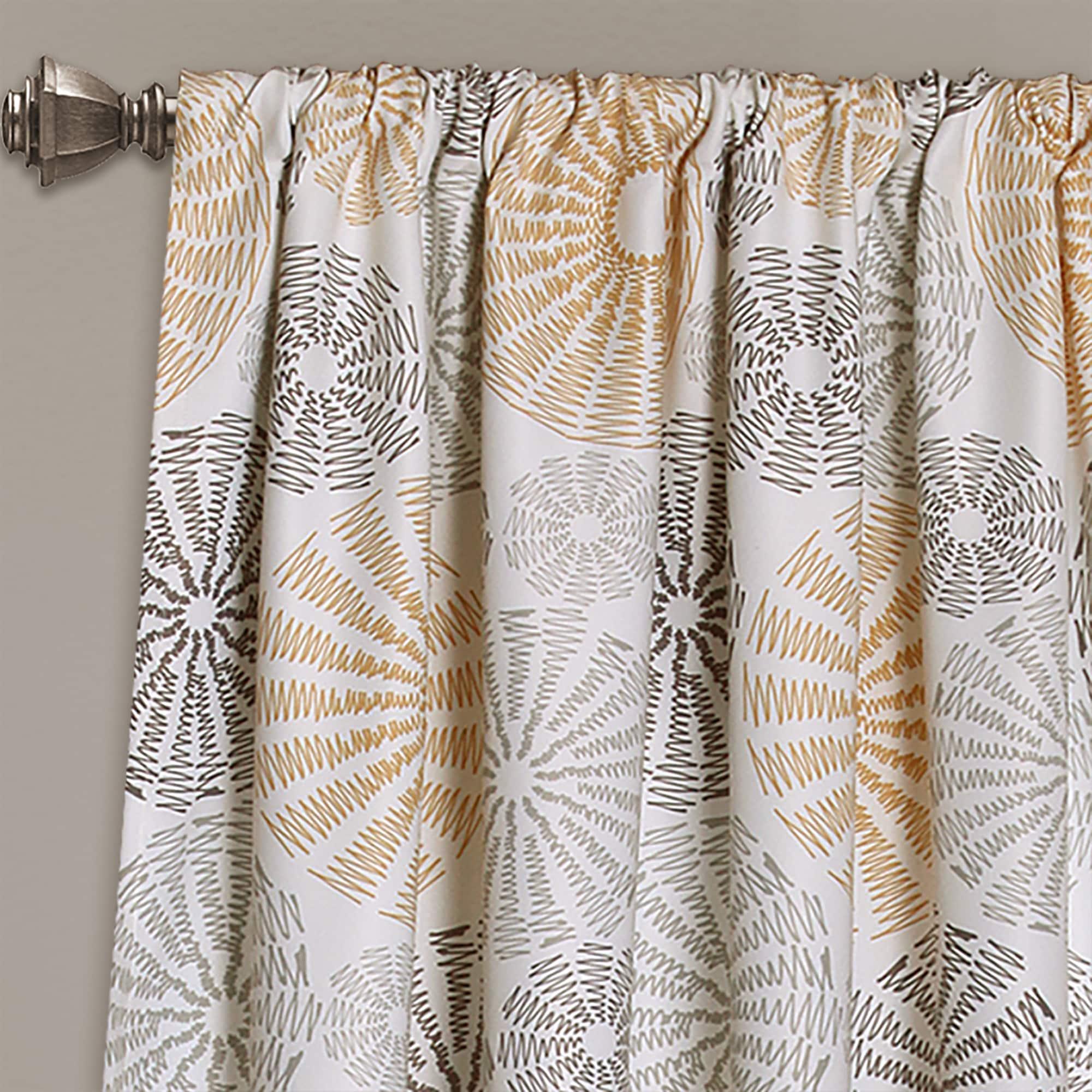 Lush Decor Multi Circles Room Darkening Window Curtain Panel Pair 52 W X 84 L Overstock 13393750