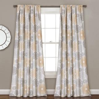 Lush Decor Multi Circles Room-darkening Window Curtain Panel Pair