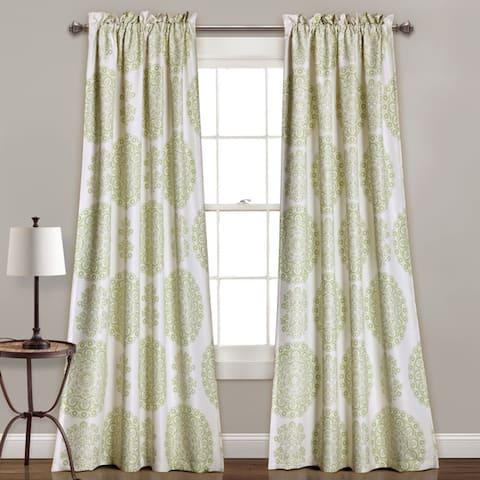 Lush Decor Evelyn Medallion Room-darkening Window Curtain Panel Pair