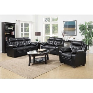 3-Piece Modern Bonded Leather Sofa Set