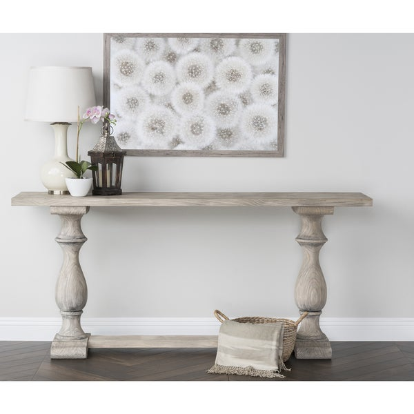 Wakefield Rustic Grey Reclaimed Pine Console Table By Kosas Home