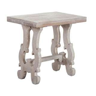 Elliott Rustic Hand Crafted Wood Side Table by Kosas Home