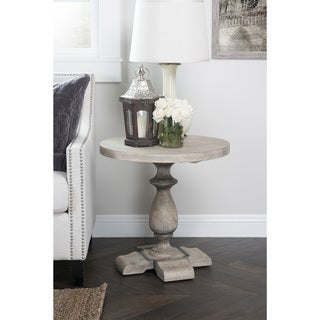 Kosas Collections Home Rustic Wakefield Warm Grey Pine Round Accent Table