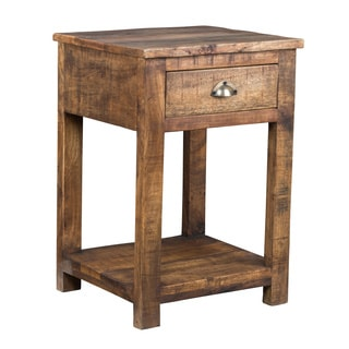 Kosas Home Brown Wood Accent Table