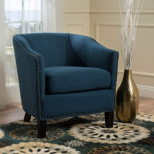 shop austin studded fabric club chair by christopher knight home