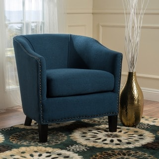 Austin Studded Fabric Club Chair by Christopher Knight Home
