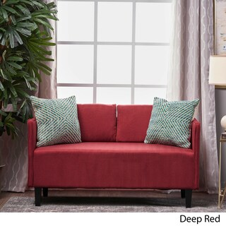 Sullivan Fabric Loveseat Sofa by Christopher Knight Home (Option: Deep Red)