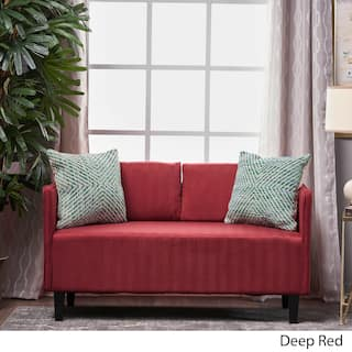 Sullivan Fabric Loveseat Sofa By Christopher Knight Home Option Deep Red
