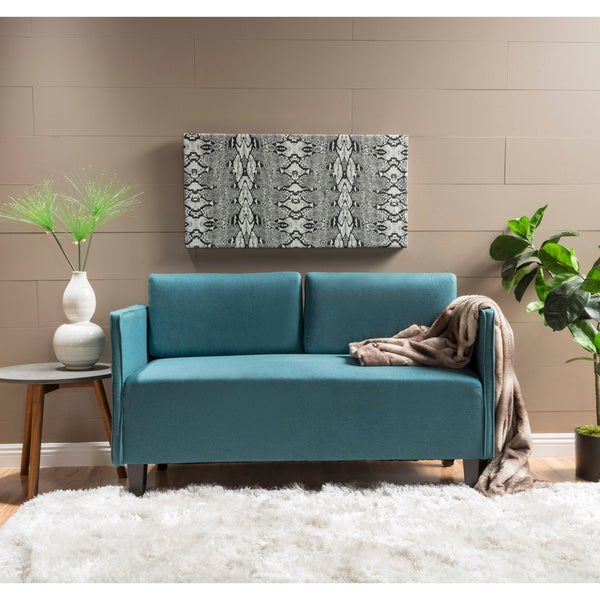 Shop Sullivan Fabric Loveseat Sofa by Christopher Knight Home - On ...