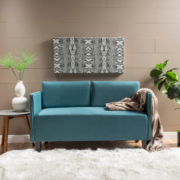 Shop Sullivan Modern Upholstered Fabric Loveseat With