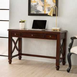 Tennyson Small Wood Study Desk with Drawers by Christopher Knight Home