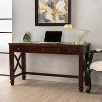 Tennyson Wood Study Desk with Drawers by Christopher Knight Home