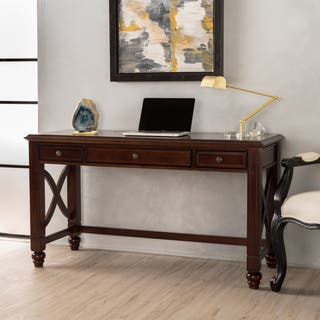 Tennyson Wood Study Desk with Drawers by Christopher Knight Home. Desks   Computer Tables For Less   Overstock com