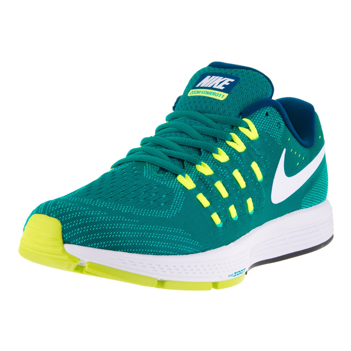 Nike Men's Air Zoom Vomero 11 Rio Teal/White/Volt/Clear J...