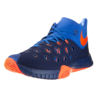 Nike Men's Zoom Hyperquickness 2015 Insignia Blue/Bright Citrus Sr Basketball Shoe