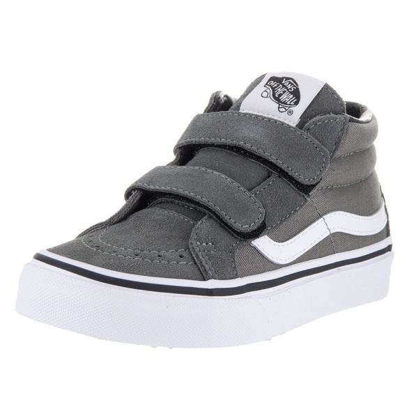 Shop Vans Kids  Sk8-Mid Reissue V Charcoal Canvas Suede Skate Shoes ... cbc78bfdc