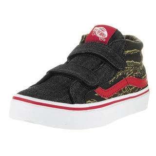 Vans Kids Sk8-Mid Reissue Multicolored Camo Denim Skate Shoe