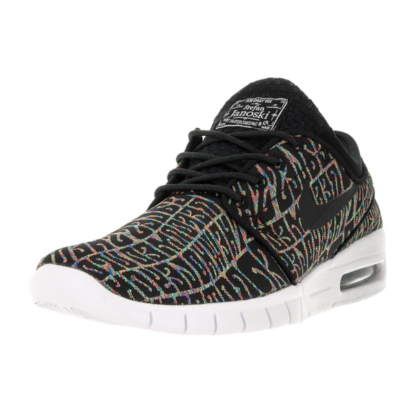 Shop Nike Men's Stefan Janoski Max PRM BlackBlack White