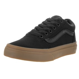 Vans Kids Old Skool (Canvas Gum) Black/Lghtgm Skate Shoe