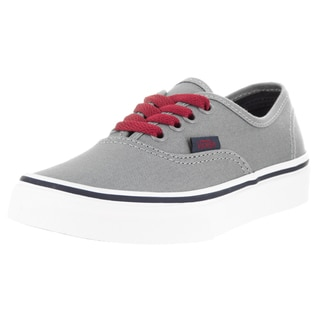 Vans Kids Authentic Pop Frost Grey/Racing Red Skate Shoe