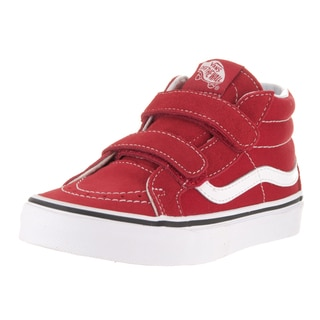 Vans Kids Sk8-Mid Reissue V Formula One Red and White Suede Skate Shoe