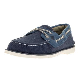 Sperry Top-Sider Men's Leeward X-Lace Navy/Blue Boat Shoe