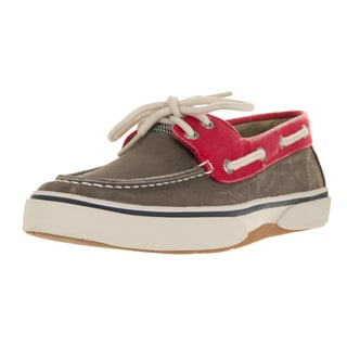 Sperry Top-Sider Men's Halyard 2-Eye Choc/Red Boat Shoe