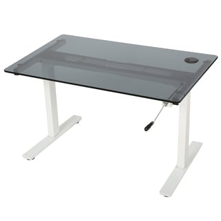 Christopher Knight Home Washington 48-inch Glass Desk with Adjustable Height and Manual Base