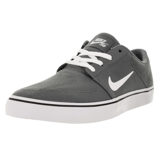 Nike Men's SB Portmore Cnvs Cool Grey/White/Black Skate Shoe