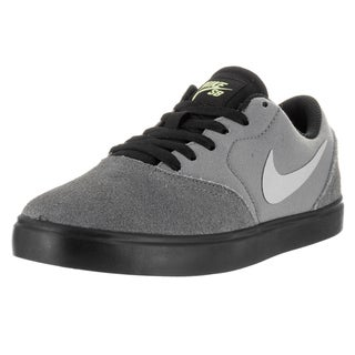 Nike Kids' Sb Check (GS) Grey and Black Suede Skate Shoes