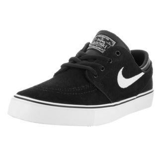 Nike Kids Stefan Janoski Black/White Suede Skate Shoe