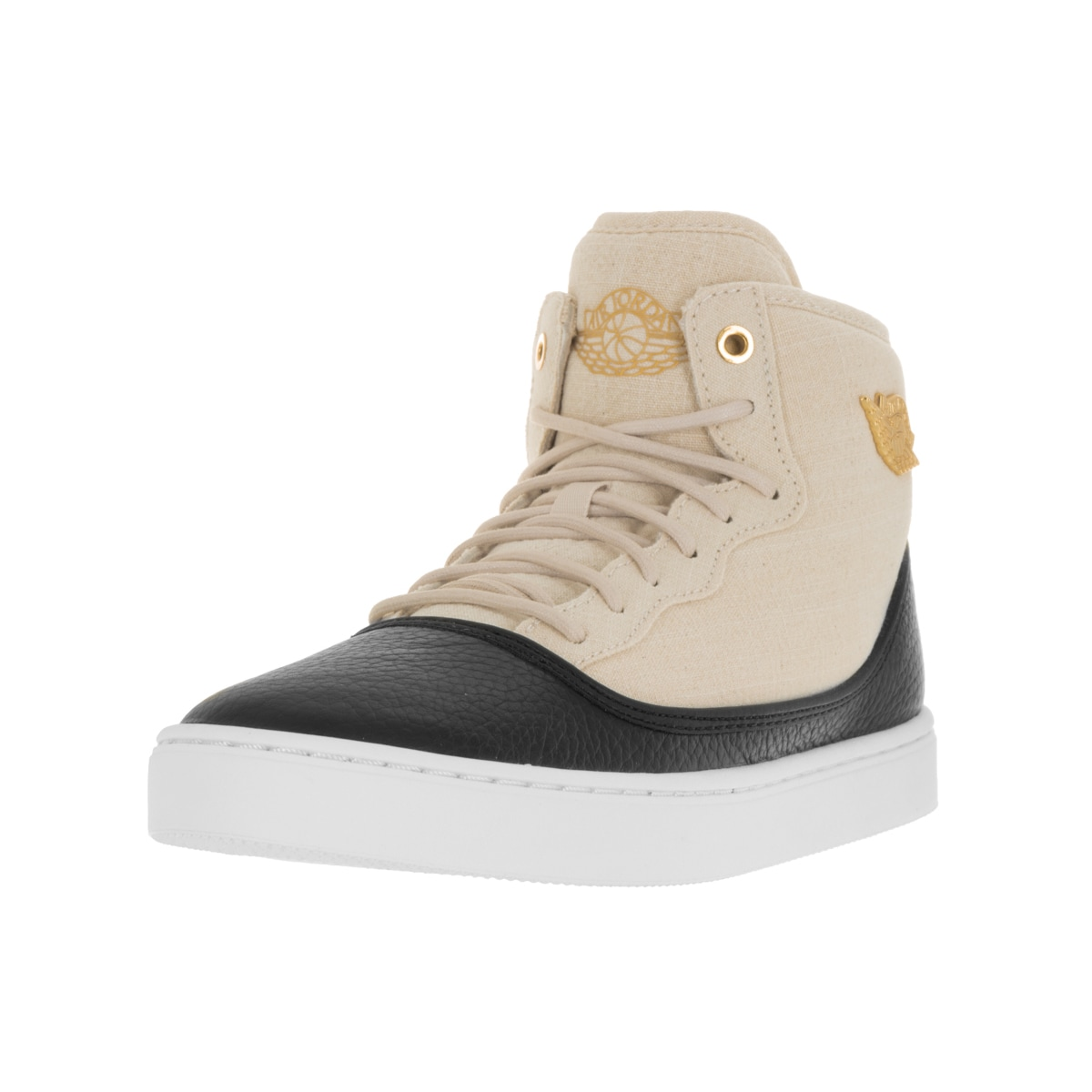Nike Jordan Kids Jasmine Black/Off-white (Beige) Leather ...