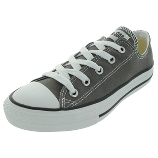 Converse Kids' Chuck Taylor All-Star Grey and White Canvas Casual Shoes