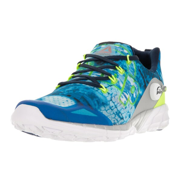 Shop Reebok Men s Zpump Fusion 2.0 Dunes White Black Blue Bl Yel Nvy ... 883ee3234