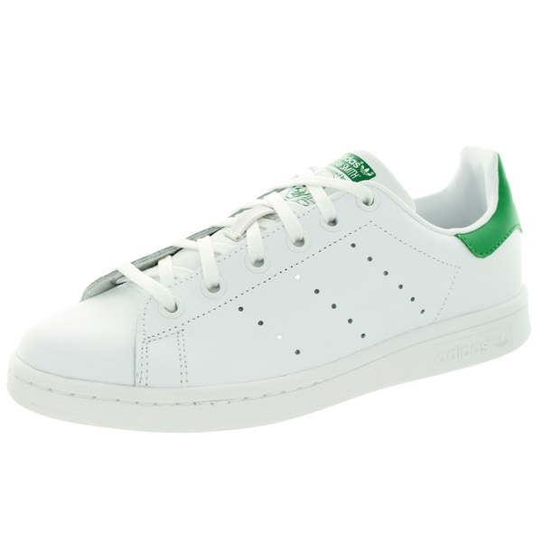 new concept 2cba1 a5b5b Adidas Kids Stan Smith J Originals White Leather Casual Shoes