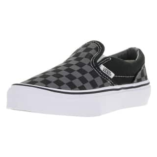 Vans Kids' Black and Pewter Checkboard Canvas Classic Slip-on Skate Shoes|https://ak1.ostkcdn.com/images/products/13394115/P20090971.jpg?impolicy=medium