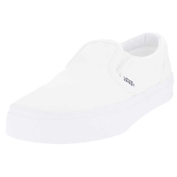 e7b6e41d0961 Shop Vans Kids Classic Slip-on True White Skate Shoe - Free Shipping ...