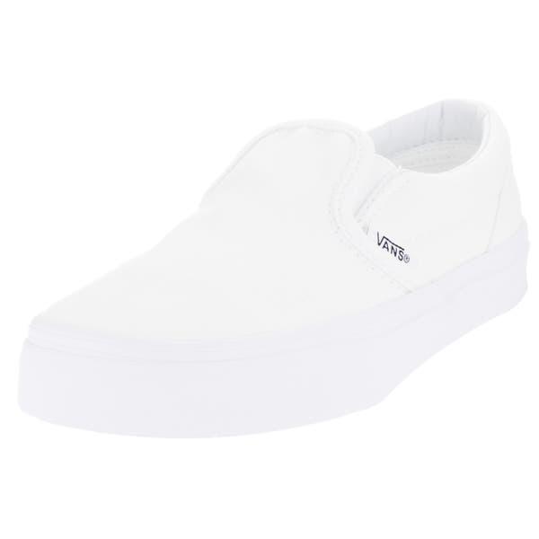 Shop Vans Kids Classic Slip On True White Skate Shoe Overstock 13394119
