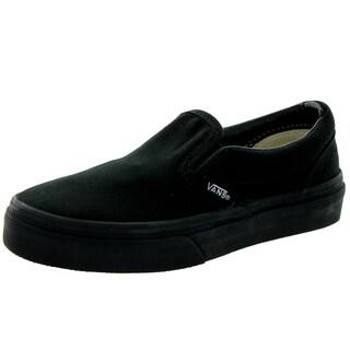Vans Kids Black Canvas Classic Slip-On Skate Shoe (Option: 3)|https://ak1.ostkcdn.com/images/products/13394121/P20090975.jpg?_ostk_perf_=percv&impolicy=medium
