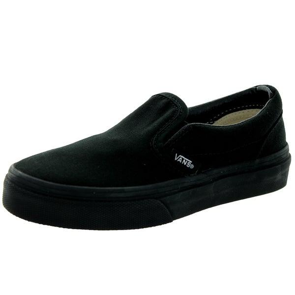 Vans Kids Black Canvas Classic Slip-On Skate Shoe